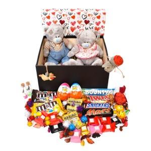 پک هدیه شکلات و عروسک سایز 2 کد H027