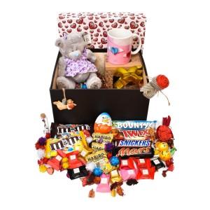 پک هدیه شکلات و عروسک سایز 2 کد H030