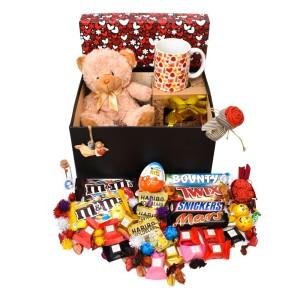 پک هدیه شکلات و عروسک سایز 2 کدH034