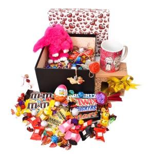 پک هدیه شکلات و عروسک سایز 3 کد H019