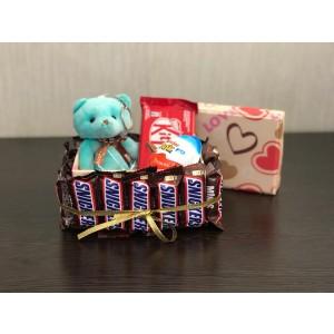 پک هدیه شکلات مدل مینی اسنیکرز